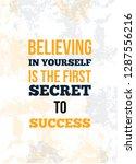 believing in yourself is the... | Shutterstock .eps vector #1287556216