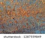 steel plate rust | Shutterstock . vector #1287559849