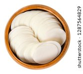 round white wafer papers for... | Shutterstock . vector #1287564829