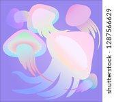 jellyfish 3d background.... | Shutterstock .eps vector #1287566629