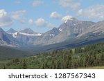 rocky mountains  snow  blue sky | Shutterstock . vector #1287567343