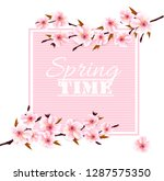 nature spring background with... | Shutterstock .eps vector #1287575350