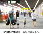 blurred images of a man with... | Shutterstock . vector #1287589573
