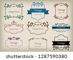 vintage frame set | Shutterstock .eps vector #1287590380