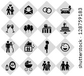happy life icons | Shutterstock .eps vector #128759183