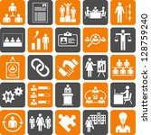 human resources management icons | Shutterstock .eps vector #128759240