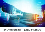 stock market business.working... | Shutterstock . vector #1287593509