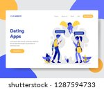 landing page template of couple ... | Shutterstock .eps vector #1287594733