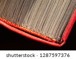 side view of the old yellow... | Shutterstock . vector #1287597376