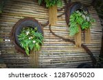 Vertical Garden With Tyre With...