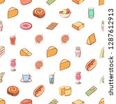 american food  cheeses  drinks  ... | Shutterstock .eps vector #1287612913