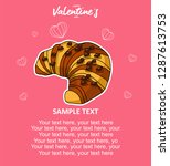 greeting cards for valentine's...   Shutterstock .eps vector #1287613753