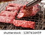 grilled beef on a plate | Shutterstock . vector #1287616459