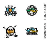 duck logo design | Shutterstock .eps vector #1287616639