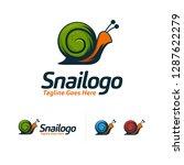 Cool Snail Logo Designs Vector...