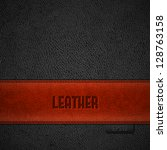 red leather stripe on black...