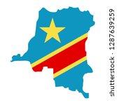 map of democratic republic of... | Shutterstock .eps vector #1287639259