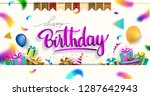 happy birthday typography... | Shutterstock .eps vector #1287642943