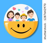 happy family and smile vector...   Shutterstock .eps vector #1287642970