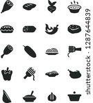 solid black vector icon set  ...   Shutterstock .eps vector #1287644839
