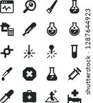 solid black vector icon set  ... | Shutterstock .eps vector #1287644923