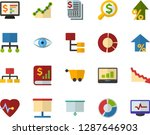 color flat icon set  ... | Shutterstock .eps vector #1287646903