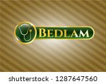 gold badge or emblem with... | Shutterstock .eps vector #1287647560