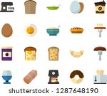 color flat icon set   sausage... | Shutterstock .eps vector #1287648190