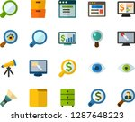 color flat icon set   magnifier ... | Shutterstock .eps vector #1287648223
