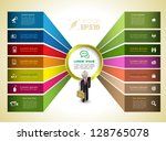vector  business concepts with  ... | Shutterstock .eps vector #128765078