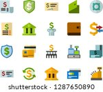 color flat icon set   credit... | Shutterstock .eps vector #1287650890