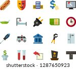 color flat icon set   cemetery... | Shutterstock .eps vector #1287650923