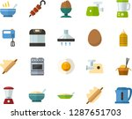 color flat icon set   poached... | Shutterstock .eps vector #1287651703