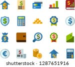 color flat icon set  ... | Shutterstock .eps vector #1287651916