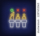 jury neon sign. glowing judges... | Shutterstock .eps vector #1287652063