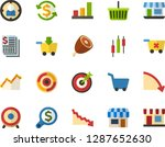 color flat icon set   load to... | Shutterstock .eps vector #1287652630