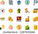 color flat icon set   coins... | Shutterstock .eps vector #1287652666
