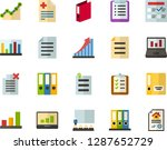 color flat icon set   checklist ... | Shutterstock .eps vector #1287652729