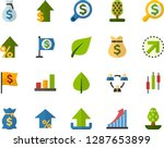 color flat icon set   green... | Shutterstock .eps vector #1287653899