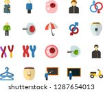 color flat icon set   holy... | Shutterstock .eps vector #1287654013