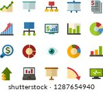 color flat icon set  ... | Shutterstock .eps vector #1287654940