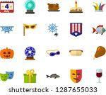 color flat icon set  ... | Shutterstock .eps vector #1287655033