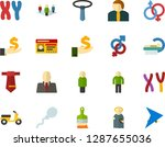 color flat icon set   angel... | Shutterstock .eps vector #1287655036