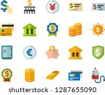 color flat icon set   credit... | Shutterstock .eps vector #1287655090