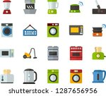 color flat icon set   rent a... | Shutterstock .eps vector #1287656956