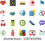 color flat icon set   santa... | Shutterstock .eps vector #1287656986