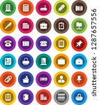 white solid icon set  shining... | Shutterstock .eps vector #1287657556