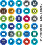 white solid icon set ...   Shutterstock .eps vector #1287658060