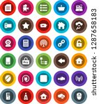 white solid icon set ...   Shutterstock .eps vector #1287658183
