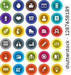 white solid icon set  cleaner... | Shutterstock .eps vector #1287658189